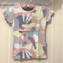 Camiseta canelada baby look multicolorida - 8 anos - Hering