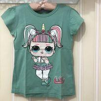 Camiseta Verde LOL Unicornio - 8 anos - LOL Surprise