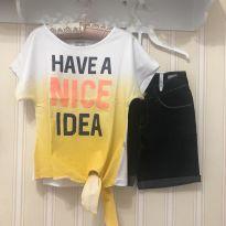 """Conjunto """"Have a Nice Idea"""" - 8 anos - Hering"""