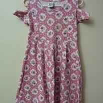 Vestido regata ombro a ombro florido rosa - 6 anos - Randa Mundu