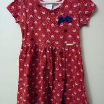 Vestido de conchas vermelho - 6 anos - Alakazoo!