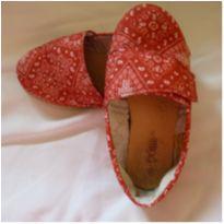 Sapatilha vermelho com velcro - 25 - Poim, Cherokee e Up Baby