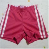 Shorts em polyester rosa com listras laterais - 6 anos - Faded Glory (EUA)