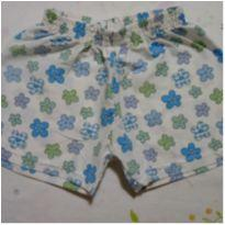Shorts em polyester flores - 6 anos - Mafessoni