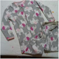 Macacão Pijama de plush cinza com elefantes - 4 anos - Child of Mine