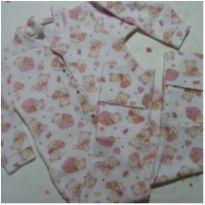 Macacão Pijama de plush branco de ursos - 4 anos - Barra Mansa