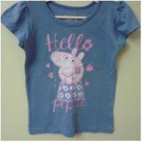 Camista Azul Hello Peppa - 4 anos - Peppa Pig