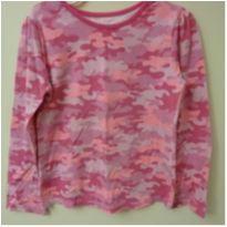 Camiseta manga longa camuflada rosa - 5 anos - Garanimals