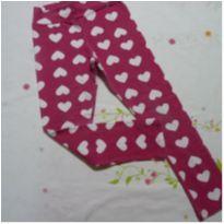 Legging rosa escura com coração - 6 anos - Nova Geração