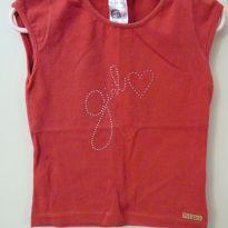 Camiseta vermelha Girl - 6 anos - Pitiska