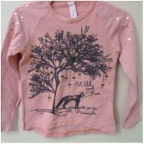 Camiseta manga longa rosa princesinha - 6 anos - Princesinha