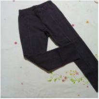Calça legging levemente flanelada cinza - 6 anos - Alakazoo!