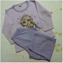 Pijama Frozen Lilás - 6 anos - Kidstok