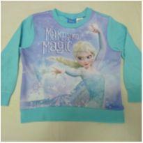 Blusa de moleton 4 anos Frozen Azul Claro - 4 anos - Disney