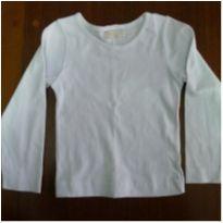Camiseta mangal longa 3 anos branca - 3 anos - Nick