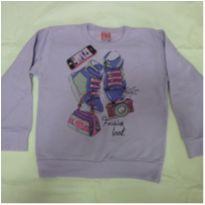 Blusa de moleton tenis 6 anos lilas - 6 anos - Ralakids