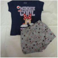 Conjunto camiseta e shorts saia mickey 8 anos - 8 anos - Disney