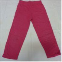 Calça de moleton 4 anos rosa - 4 anos - Basic+ Kids