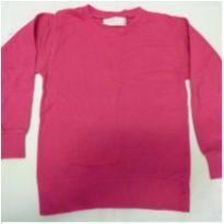 Blusa de moleton 4 anos rosa - 4 anos - Basic+ Kids