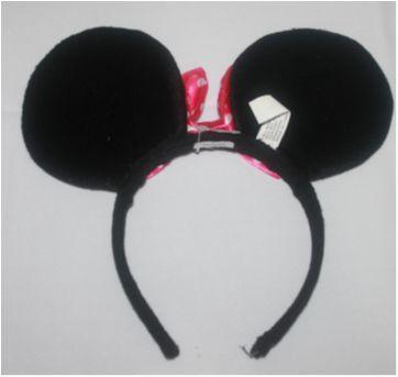 Minnie Pelúcia Original babby + tiara com orelhas - Sem faixa etaria - Disney