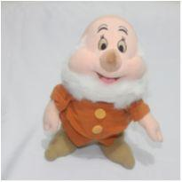 Pelúcia Anão Feliz Branca De Neve Antigo Original -  - Disney