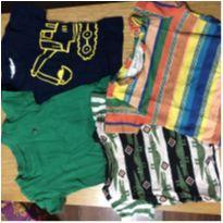 Camisetas variadas - 3 a 6 meses - Carter`s e Fábula