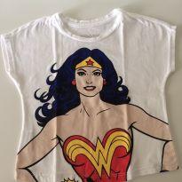 camiseta Mulher Maravilha - 3 anos - Riachuelo