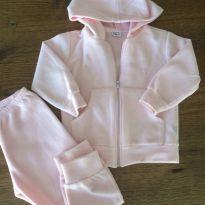 Agasalho em Fleece/Soft rosa bebê com capuz - 3 anos - Ami de lit