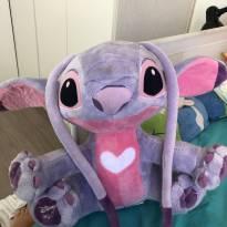 Pelúcia Angel (namorada do Stitch) Tamanho G Disney - Sem faixa etaria - Sem marca