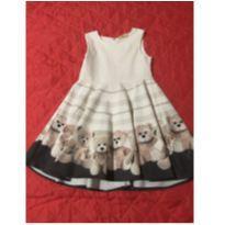 Vestido Ursos - 4 anos - Não informada