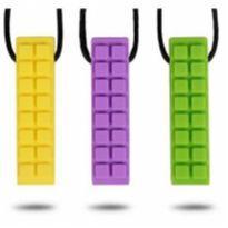 Colar Mordedor Block Roxo ( Autismo / Ansiedade) -  - Importado