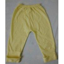 Calça Amarela com pezinho reversível - 0 a 3 meses - Não Informada
