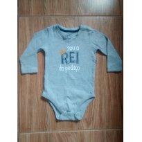 Body Cinza - 6 a 9 meses - Teddy Boom
