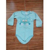 Body Azul com aplique - 9 a 12 meses - Patimini