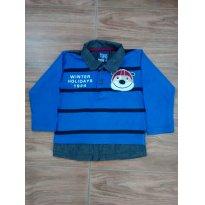 Blusinha azul do Cachorrinho - 9 a 12 meses - brincar é arte