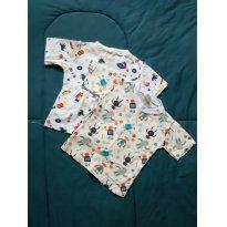 Kit Camisetas Estampadas - 9 a 12 meses - Não informada