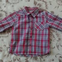 Camisa xadrez - 9 a 12 meses - PUC