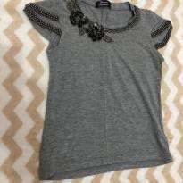 Camiseta cinza de pedraria - 2 anos - Sem marca