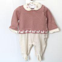 Macacão lã 0/3 meses - 0 a 3 meses - Noruega Baby