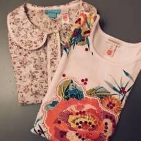 Kit: camisa + camiseta flowers - 4 anos - Monsoon