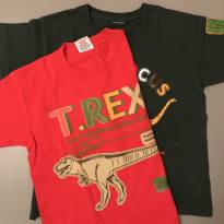 Kit 2 Camisetas Dinossauros - 3 anos - Várias