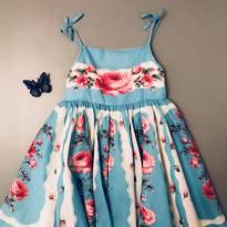 Vestido azul celeste com tule - 5 anos - Monsoon