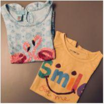 Kit 2 camisetas: flamingo e smile - 4 anos - Baby Gap e Monsoon