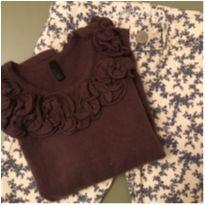 Kit gracinha: calça florida + blusa - 4 anos - Benetton e GAP