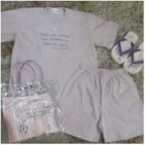 Kit Novo Pijama c/ Chinelo e Sacola Personalizada - 6 anos - Olha quem está falando