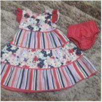 Vestido Novo c/ Etiqueta Up Baby - 6 a 9 meses - Up Baby