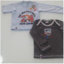Kit 2 camisas Novas - 6 a 9 meses - Quebra Cabeça