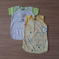 2 Bodys Novos c/ Etiqueta - 9 a 12 meses - Pingo Doce
