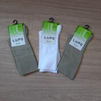 3 - meias novas na Embalagem LUPO - 8 anos - Lupo