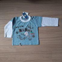 Blusa Nova c/ Etiqueta - 6 a 9 meses - Quebra Cabeça